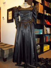 black gothic 1980s wedding gown time travel costumes