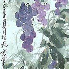 Grapes Home Decor Traditional Chinese Painting Mounted On Scroll Grapes Home