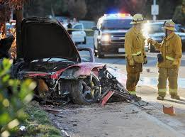 apparently my buddy saw that aftermath of paul walkers car crash