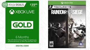 Buy Rainbow Six Siege Gold Buy Six Months Of Xbox Live Gold Get Rainbow Six Siege For Free