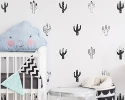 cactus wall decal etsy cactus wall decals nursery vinyl tribal decor geometric stickers unique home