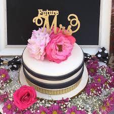 bridal shower cake topper future mrs cake topper gold bridal