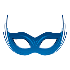 party blue carnival mask transparent png u0026 svg vector