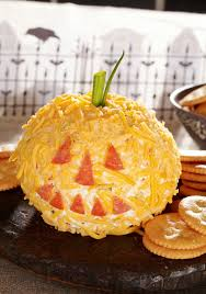 appetizers for halloween cheesy jack o u0027 lantern u2014 this cheese ball appetizer recipe only