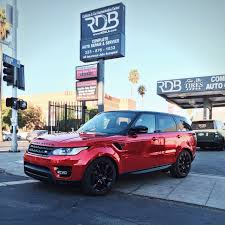 red range rover rdbla range rover sport red chrome rdb la five star tires