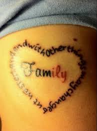 tattoo represents family 3d hd design idea