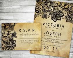 halloween save the date rustic lace marriage invitation vintage shabby chic style