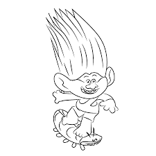 dreamworks trolls coloring pages getcoloringpages com