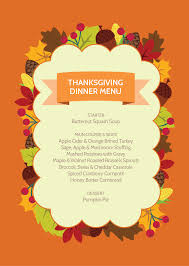 thanksgiving thanksgiving dinner menuer template boston market