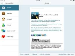 email signature ipad edition on the app store