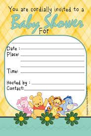 Invitation Card For Baby Winnie The Pooh Baby Shower Invitations Kawaiitheo Com