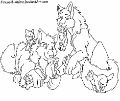 Request Wolf Pack By Firewolf Anime On Deviantart Wolf Pack Coloring Pages