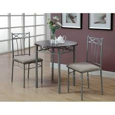 cappuccino silver metal 3 piece bistro table set free shipping