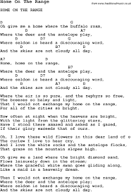 song home on the range song lyric for vocal performance plus