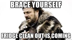 Fridge Meme - brace yourself fridge clean out is coming brace yourself meme