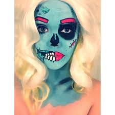 first attempt at pop art zombie halloween makeup imgur