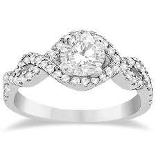 infinity diamond ring diamond halo infinity engagement ring 14k white gold 0 39ct allurez