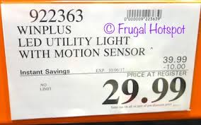 winplus led utility light review costco sale winplus motion sensor led utility light 29 99 frugal
