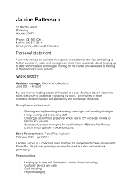 Resume Retail Objective Good Personal Statement Retail Cv