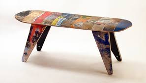 skateboard chairs cool and masculine skateboard furniture chair seating 2013