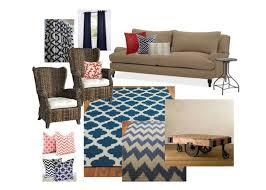living room inspiration board pottery barn sofa pier one wicker