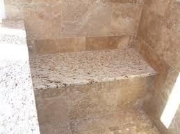 breathtaking image of bathroom decoration using cream granite