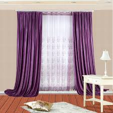 Purple Curtains Ikea Decor Thermal Velvet Simple Window Curtains With Corresponding Sheers