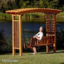 arbor swing plans free how to build a garden arbor the family handyman