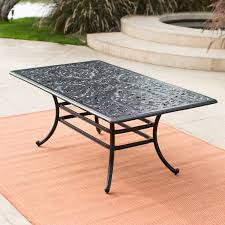 Rectangle Patio Dining Table Belham Living San Miguel Cast Aluminum 42 X 72 In Rectangular