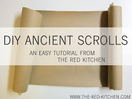 diy scroll invitations the kitchen diy ancient scrolls tutorial
