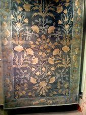 pottery barn adeline rug pottery barn adeline rug green 4x6 floral leaves tufted wool
