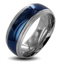 mens stainless steel wedding bands walmart men s silver spinner wedding bands west coast jewelry
