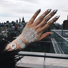 40 pristine white henna tattoos that scream for love and