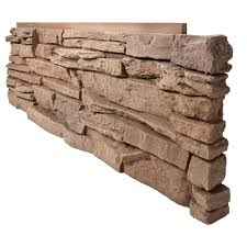 genstone stacked stone desert sunrise 12 in x 38 in faux stone