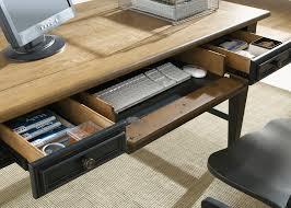 Bedroom Furniture Oak Veneer Bungalow Ii Jr Executive Desk With Rubberwood Solids U0026 White Oak