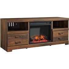 ashley quinden tv stand with fireplace insert media furniture