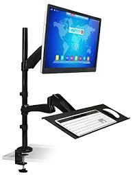 monitor and keyboard arm desk mount mount it mi 7921 sit stand desk mount workstation height