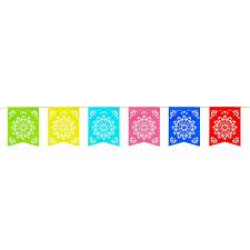 amazon com 12 foot long rainbow multicolored flag mexican sun del
