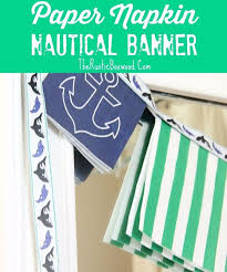 easy and inexpensive tutorial for a nautical paper garland hometalk