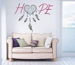 Feather Wallpaper Home Decor Hope Dream Catcher Wall Decal Feather Wall Art Boho Wall