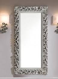 specchi con cornice specchio grande con cornice intarsiata e finitura in argento