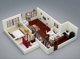 1 Bedroom Flat Interior Design Uncategorized Integrated Studio Apartment With One Bedroom Ideas
