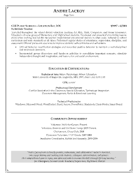 Abilities Examples For Resume by Resume Example Of Professional Cover Letter Cover Letter