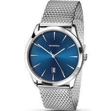 mesh steel bracelet images Men 39 s blue dial steel mesh bracelet watch 1065 watches from jpg