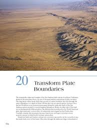 transform plate boundaries fault geology plate tectonics