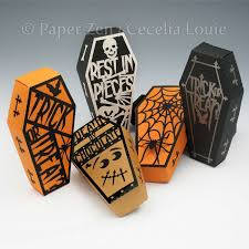 halloween gift halloween gift box coffin and covers paper gift box die