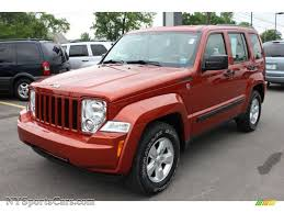 2009 jeep liberty sport 4x4 in sunburst orange pearl photo 7
