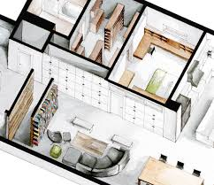 Furniture Floor Plans Watercolor Floorplans From Recent Television Shows And Films