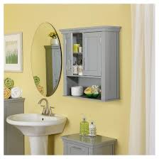Wall Cabinet Bathroom Somerset Collection 2 Door Wall Cabinet Gray Riverridge Target