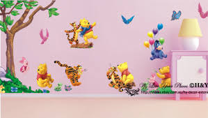 Winnie The Pooh Wall Decals For Nursery by Large Winnie The Pooh Wall Art Decal Removable Nursery Kids